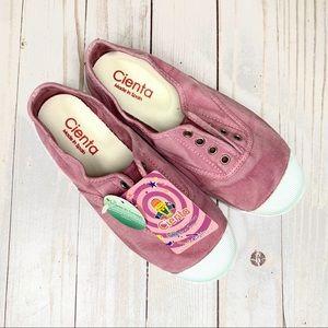NWT Cienta 'Distressed Pink' Slip-On Sneakers